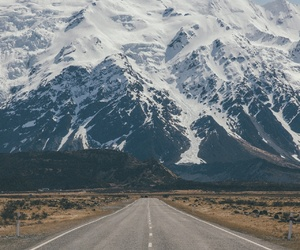 landscape, mountains, and road image