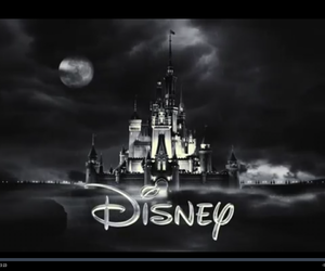 black, castle, and disney image