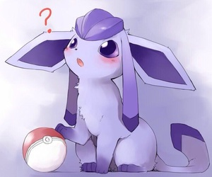 anime, glaceon, and pokemon image