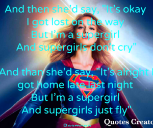 song, Supergirl, and rea image