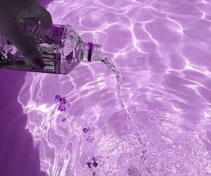 water, purple, and fiji image