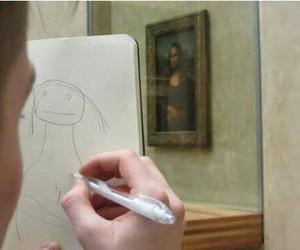 art, mona lisa, and funny image