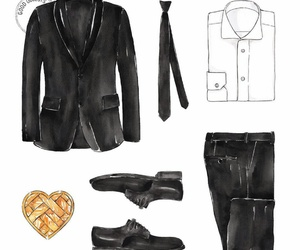 black, elegant, and suit image