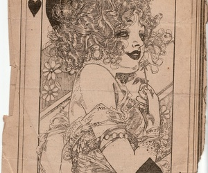 playing card and queen of hearts image