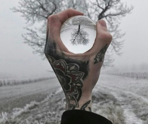 tattoo, grunge, and winter image
