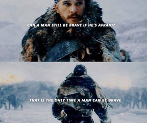 snow, stark, and game of thrones image