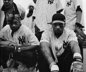 wu tang clan and black and white image