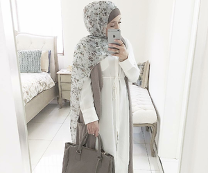 modest, hijab fashion, and white image