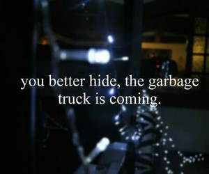 bitch, garbage, and quote image
