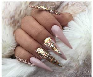 girly, nails, and style image