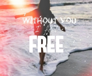 freedom, happiness, and sea image