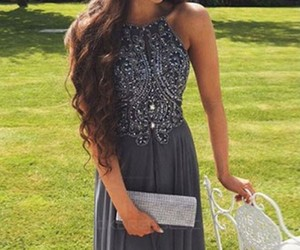 beaded, evening dresses, and prom dresses image