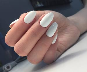 manicure, nails, and white image