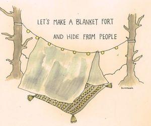 blanket, fort, and hide image