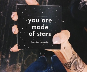 stars, quotes, and black image