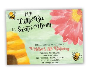 etsy, printed invitations, and bee party image