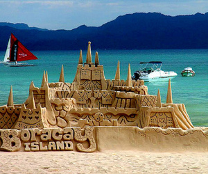 boracay, sand, and beach image