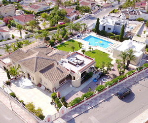 drone, house, and spain image