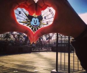 disney, heart, and mickey image
