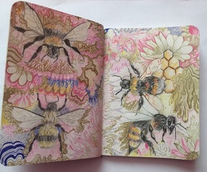 art, bee, and aesthetic image