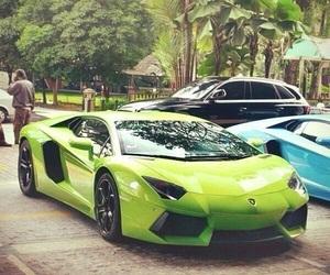 car, Lamborghini, and green image