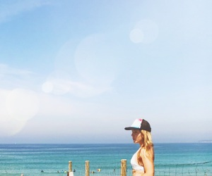 beach, surf, and blonde image