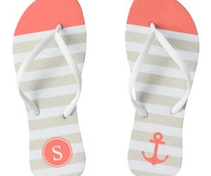 anchor, coral, and flip flops image