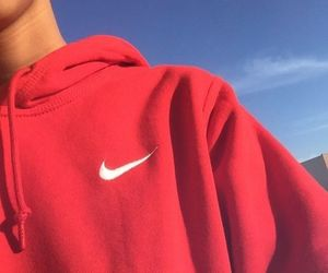 nike, red, and boy image
