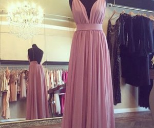 dress, evening dress, and pink dress image