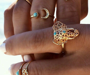 accessory, blue, and rings image