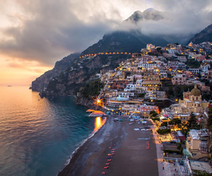 Amalfi coast, italy, and sea image