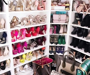 closet, shoes, and colors image