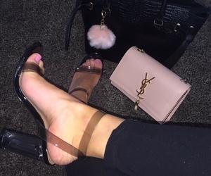 bag, makeup, and shoes image