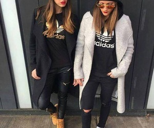 adidas, friends, and outfit image