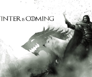game of thrones, winter is coming, and jon snow image