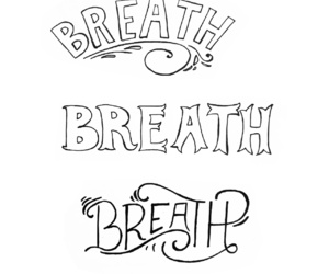 black and white, breath, and calligraphy image