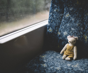 bear, blue, and doll image
