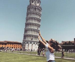 girl and Pisa image
