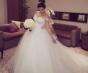 beauty, clothes, and wedding image