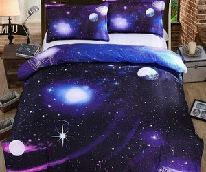 bed, galaxy, and want image