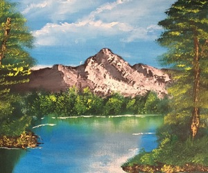mountain, Oil Painting, and painting image