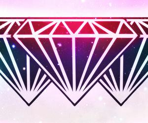 colors, diamond, and galaxy image