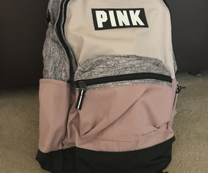 backpack, bag, and pink image