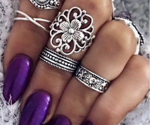accessories, nails, and purple image