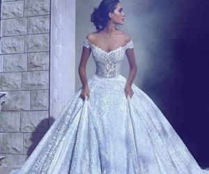 dress, wedding, and marriage image