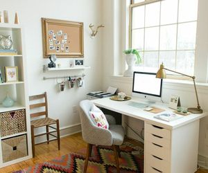 desk, room, and design image