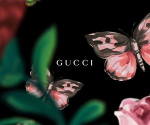 gucci, wallpaper, and butterfly image