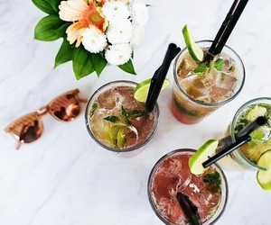 Cocktails, fresh, and drinks image