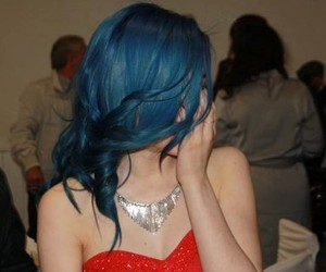 birthday, blue hair, and dress image