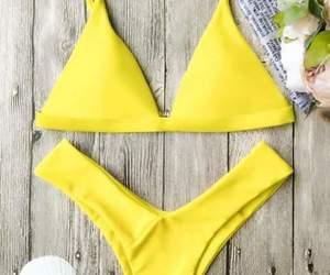 amarillo, bikinis, and yellow image
